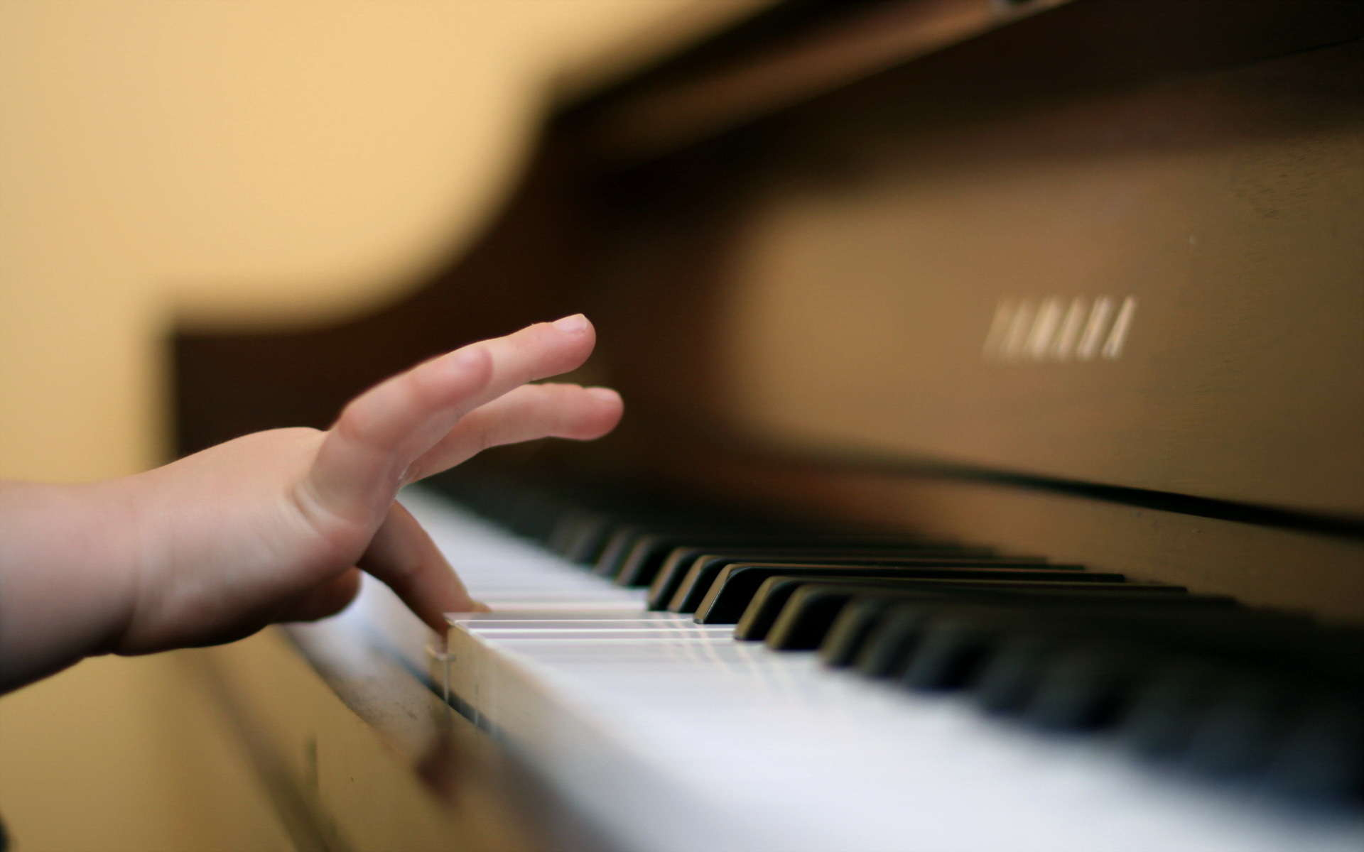 Child Finger Playing Piano 254460